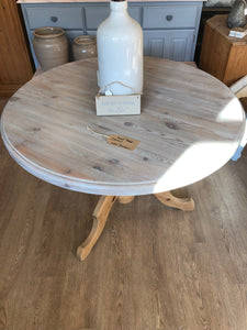 Circular Solid Pine Dining Table (now sold)