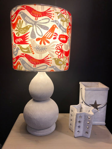 Handpainted Stone Effect Lamp With Shade *NOW SOLD*