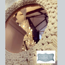 Load image into Gallery viewer, Rose Gold macrame wall mirror
