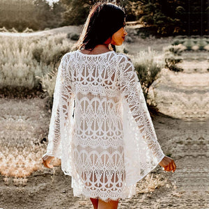 V-Neck Lace Cover Up