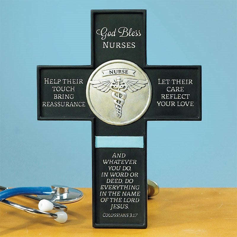 God bless nurses cross