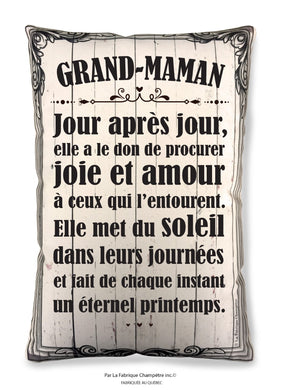 Coussin ''Grand-maman''