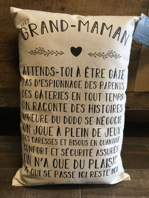 Coussin ''Chez grand-maman''