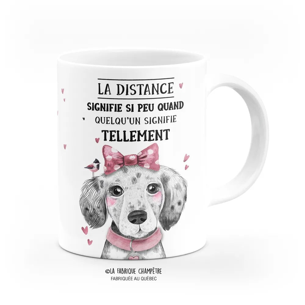 Tasse Barn ''La distance''