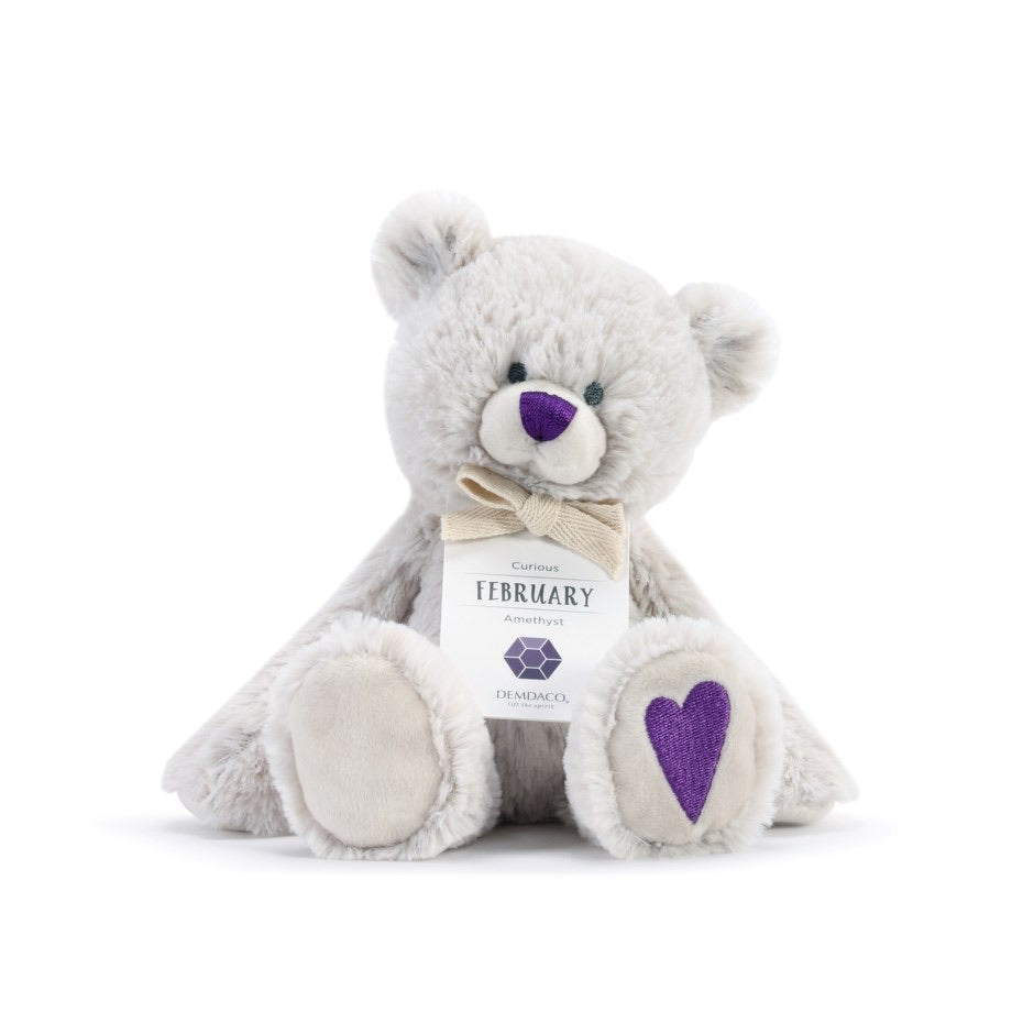 February Birthstone Bear 8.5''