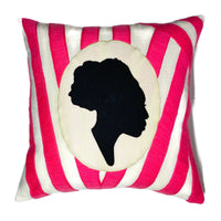 "Afro Cameo 20"" Square Throw Pillow"
