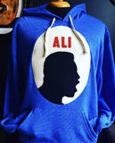 Ali Cameo Unisex Hooded Sweatshirt Blue