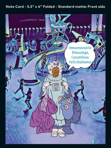 Miss One - A2 Blank Greeting Card