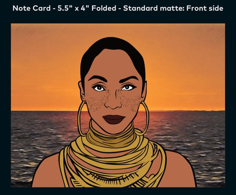 Sade - A2 Blank Greeting Card