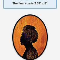 Cameo Silhouette Art Magnet - Man