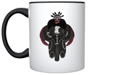 Cheetah - Illustrated 11oz Black/White Mug