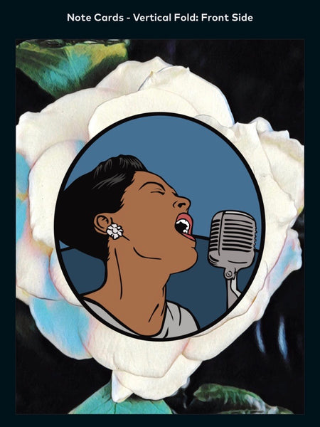 Billie Holiday - A2 Blank Greeting Card