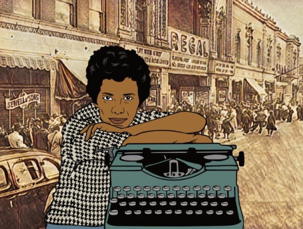 Lorraine Hansberry - A2 Blank Greeting Card