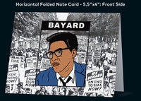 Bayard Rustin - A2 Blank Greeting Card