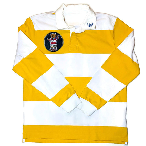 Yellow Striped Rugby Shirt L