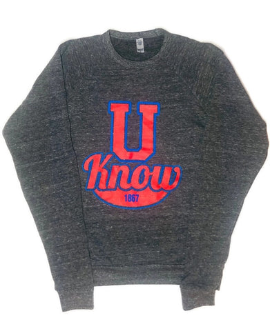 U Know! - Raglan Crew Neck Sweatshirt