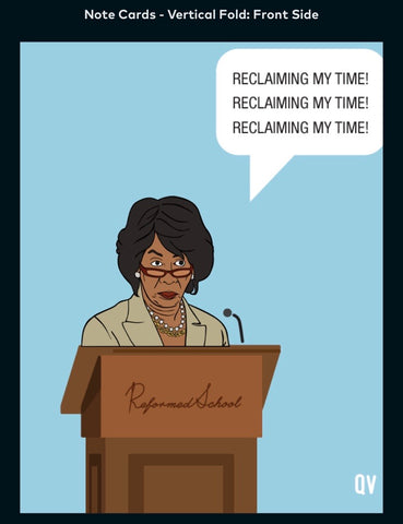 Maxine Waters - A2 Blank Greeting Card
