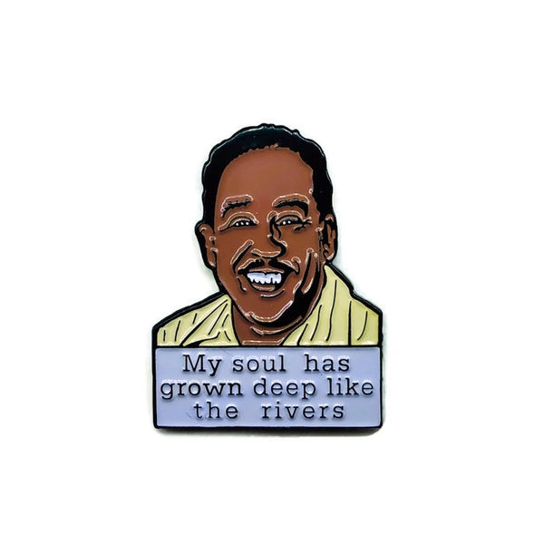 Langston Hughes - Soft Enamel Pin