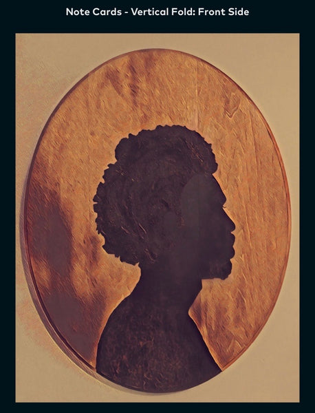 Afro Cameo Male - A2 Blank Greeting Card