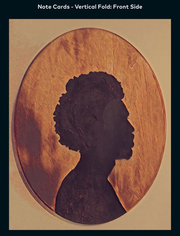 Afro Cameo - A2 Blank Greeting Card