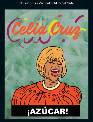Celia Cruz AZÚCAR - A2 Blank Greeting Card