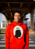 Ali Cameo Unisex Crimson Hooded Sweatshirt
