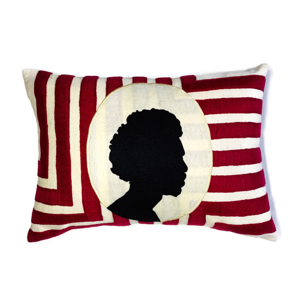 Afro Cameo Throw Pillow