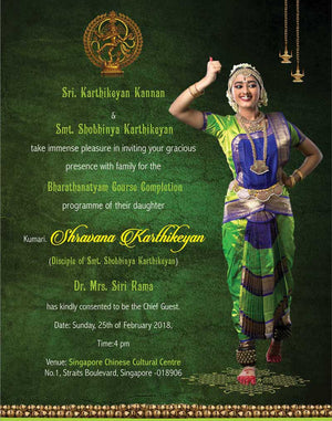 Arangetram Invitation - 02 - imaginations