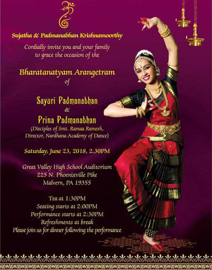 Arangetram Invitation - 03 - imaginations