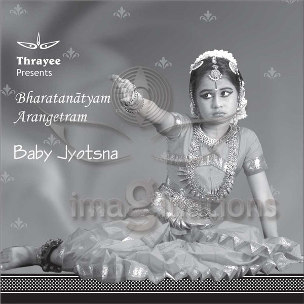 Arangetram Invitations - Black & White - 003 - imaginations