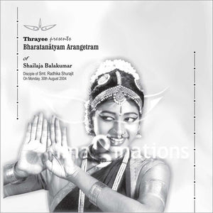 Arangetram Invitations - BLACK & WHITE – 005 - imaginations