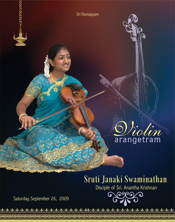Violin Arangetram Invitation - 001