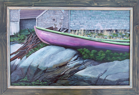 boat acrylic painting schuppert