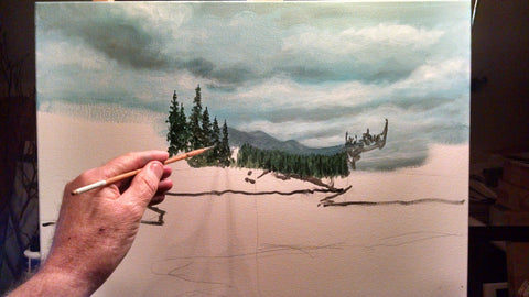 painting mclean lake