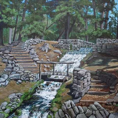 painting of grist mill