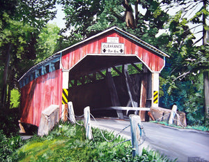 Richards Covered Bridge: Original Fine Art Painting