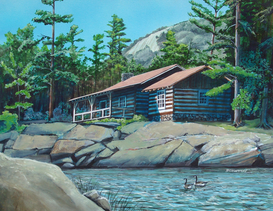 Cabin Near Table Rock: Original Fine Art Painting