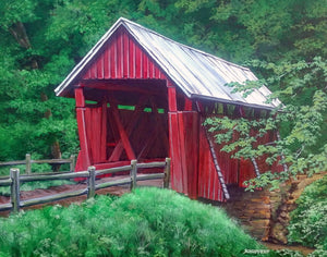Campbell's Covered Bridge: Original Fine Art Painting