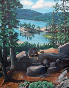big bear lake painting bear cub david schuppert