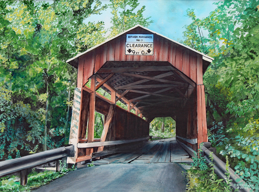 Esther Furnace Covered Bridge: Art and Giclée Prints
