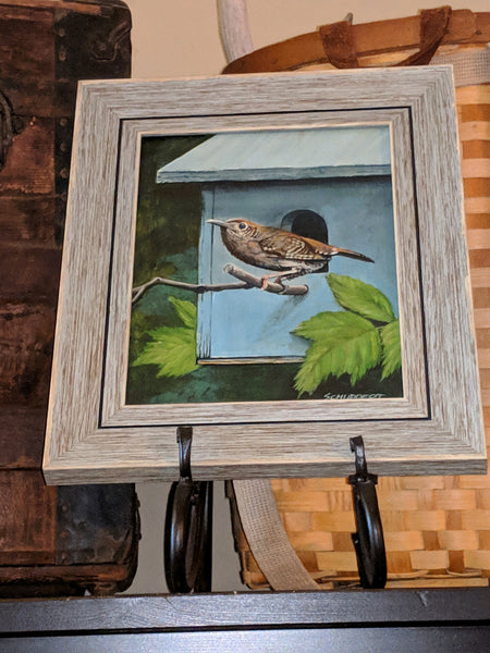 House Wren Painting: Art and Giclée Prints