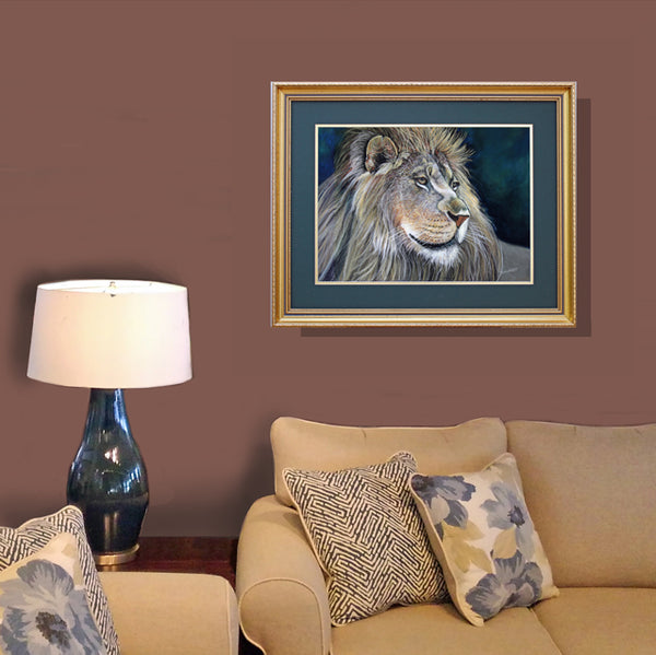 Lion: Original Pastel Painting