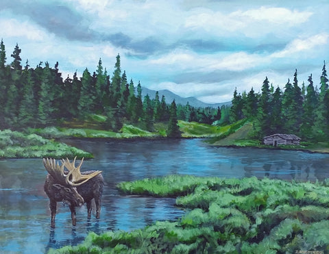 McLean Creek Landscape: Art and Giclée Prints