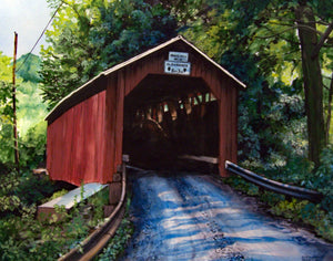 Parr's Mill Covered Bridge No. 10: Art and Giclée Print