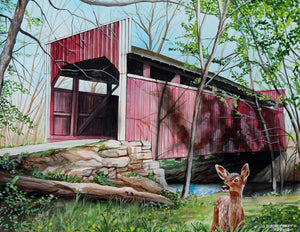 Keefers Mill Covered Bridge: Art and Giclée Prints
