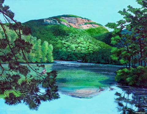 Table Rock in Spring Painting: Art and Giclée Print