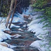 Calming Winter Stream: Art and Giclée Print