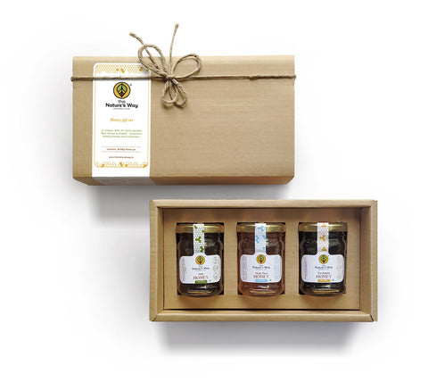 Corporate Honey Gift Set (150gX3 Glass jar)