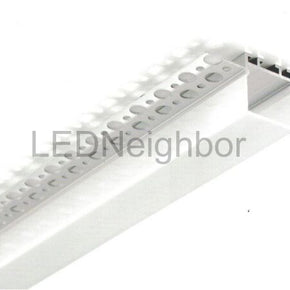 5Pack 1Meter/3.3ft Aluminum Recessed LED Corner Strip Channel 65.4mm x 28mm suit for max 22.8mm width strip light Free Shipping By DHL