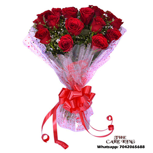 10 Red Roses Bookey - The Cake King